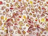 Baumwoll-Popelin-Stoff, Motiv Cupcakes & Sweet Treats,