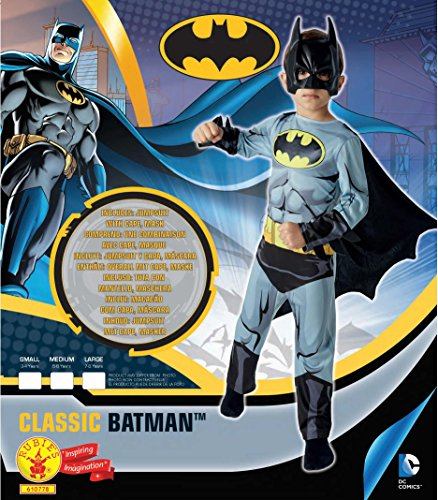 Imagen de warner  i 610778m  disfraz para niños  classic batman cómic  talla m alternativa