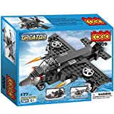 Cogo Creator 3009Skybolt, 3-in-1, Flugzeug, Hubschrauber, Militärboot, Bausteine, 177Teile