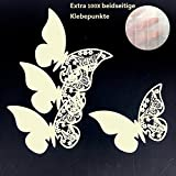ElecMotive 100 Pieces Butterfly Name Place Card Wedding Engagement Party Favour Table Number Decor Champagne Wine Glass Decoration Wall Stickers