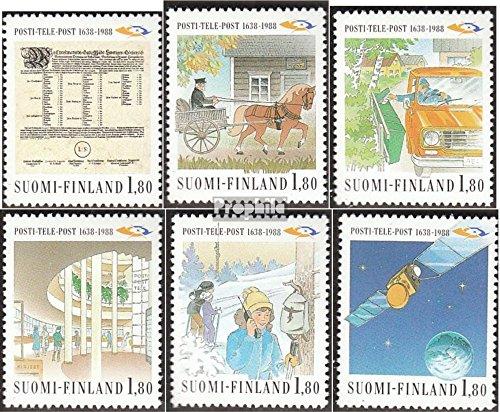Finnland 1059-1064 (kompl.Ausg.) 1988 Post- und Fernmeldewesen (Briefmarken für Sammler) Weltraum