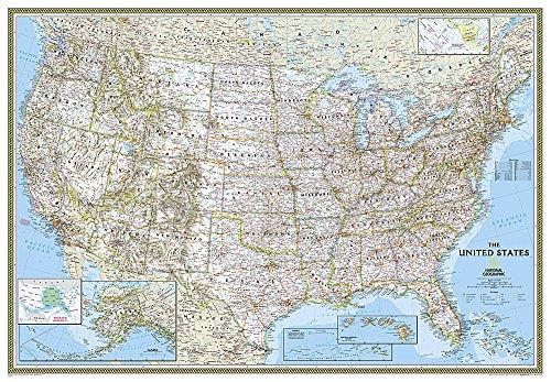USA politisch,laminiert: 1:2815000 (Kleine Usa Landkarte Poster)