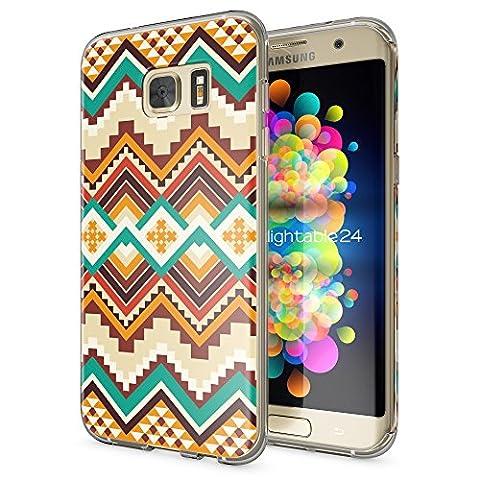 Samsung Galaxy S7 Edge Coque Protection de NICA, Housse Motif Silicone Portable Premium Case Cover Transparente, Ultra-Fine Souple Gel Slim Bumper Etui pour S7-Edge, Designs:Indian