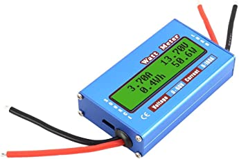 PerGrate Digital Monitor LCD Watt Meter 60 V/100A DC Amperemeter RC Batterie Power Amp Analyzer
