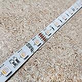 RGBW LED-Streifen (RGB+WW) 24V-14,4W/m- IP00-CRI80-SMD5050-10m Rolle