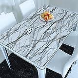 ZWL Tischdecke Pvc Kristall Teller Farbe Weichglas Wasserdicht Marmor Undurchsichtig Esstisch Matte Couchtisch Mat , Fügen Sie Vitalität in die Küche ( Farbe : A , größe : 60*60cm )