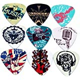 Bufferman Printed Music Element Design 0.71 mm Guitar Picks  (Pack of 8)