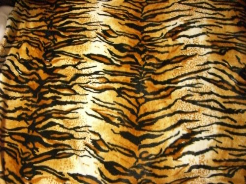 Tiger Fell Imitat Stoff Velboa Meterware Fellimitat Kunstfell