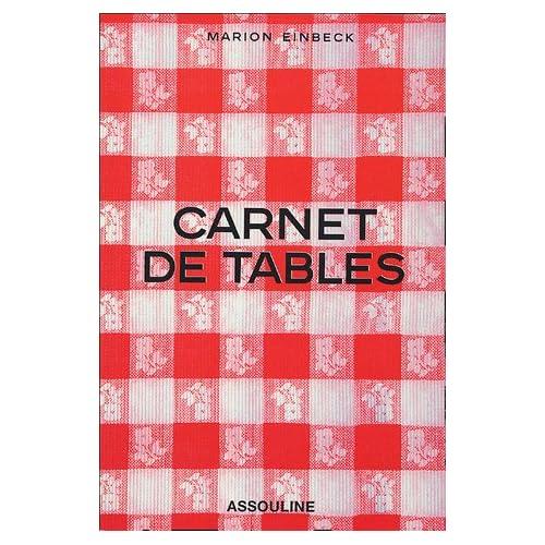 Carnet de tables