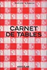 Carnet de tables par Einbeck