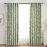 Best Leaf Curtains - Demiawaking Banana Leaves Pattern Thermal Blackout Curtains Eyelet Review