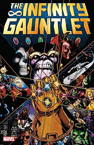 Collects Infinity Gauntlet (1991) #1-6. The Mad Titan Thanos has seized control of Infinity Gauntlet and with it near-omnipotent power! Who can stop this deadly new overlord? All of Marvel's top heroes star in this epic of cosmic proportions!