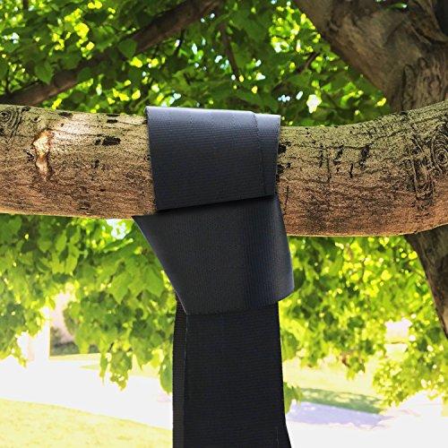 EXTSUD 1 Paar Swing Hanging 2 * 3 Meter Schaukel Befestigung Gurt Kit Aufhängeset Befestigungsset Hängesessel für Hängematten Schaukeln an Bäumen mit 2xKarabiner und 2xD-Ring,Max 500kg