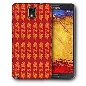 Snoogg Yellow Leaves In Red Printed Protective Phone Back Case Cover For Samsung Galaxy NOTE 3 / Note III