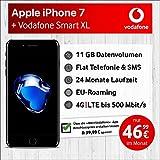 Apple iPhone 7 (spacegrau) mit 32 GB internem Speicher, Vodafone Smart XL inkl. 11GB Highspeed Volumen mit Max 500 Mbits, inkl. Telefonie- und SMS Flat, EU-Roaming, 24 Monate Min. Laufzeit, mtl