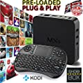 OnlyTech @ MXQ Android TV Box Streamer Fully Loaded with KODI/XBMC With ShowBox and Mobdro WITH FREE KEYPAD