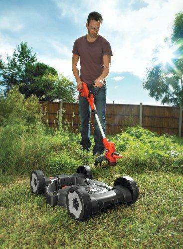 BLACK+DECKER Strimmer with Lawn Mower Deck Attachment, 550 W