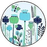 Love QAZ Runden Teppich Breite Palette von Anwendungen mehrere Muster und Größe (Farbe: #3, Größe: Durchmesser 60 cm)