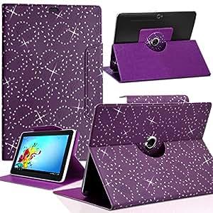 """Seluxion - Housse Etui Diamant Universel M couleur violet pour Tablette Lenovo Miix 3-830 8"""""""