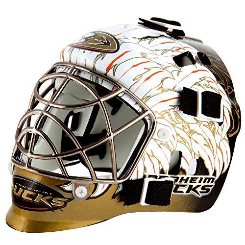 Franklin Sports Eishockey-Sammelartikel Torwart-Helm Mini, Design: Logo Einer NHL-Mannschaft, Unisex, 7784F15, weiß, Einheitsgröße