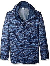 Columbia Men's Big and Tall Watertight Printed Jacket, Steel Camo, 3X