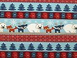 Minerva Crafts eyko Weihnachten Print Stretch Jersey Knit