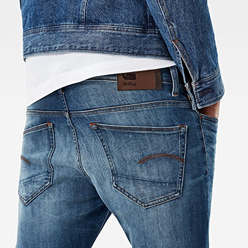 G-STAR RAW Herren Skinny Jeans Blau (Medium Indigo Aged 6028)