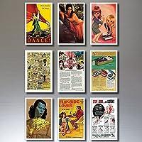 9 Kitsch Vintage Retro Kitsch Poster Kühlschrankmagnete - schäbig, schick, Pop Art ...