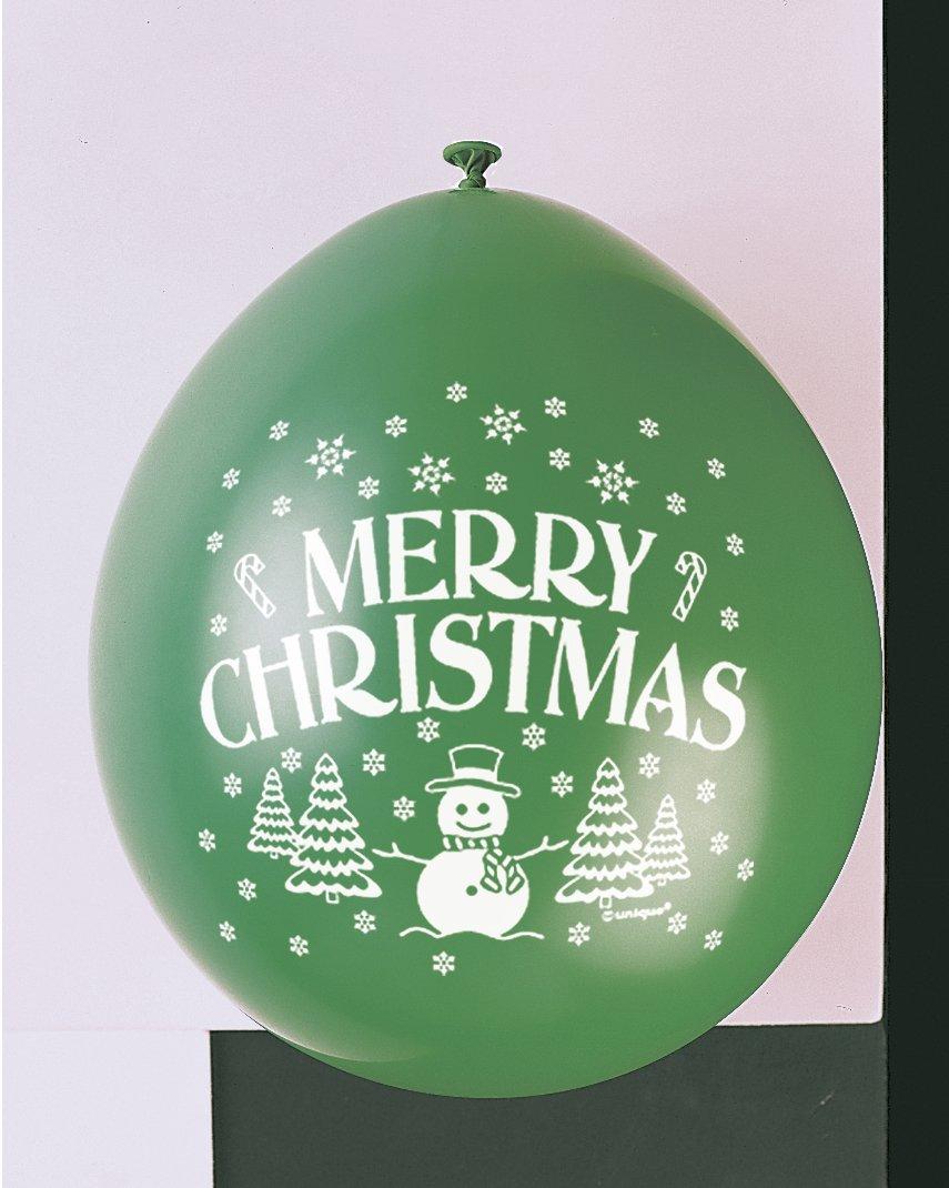 """9""""feliz Navidad globos de látex, pack de 10"""