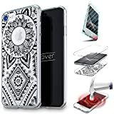 URCOVER® Coquille Tactile 360 degrés | Samsung Galaxy A3 2016 | Dream Catcher Mandala in Noir | Silicone Transparent Doux Protection Écran 3d Étui Housse Mince Tribal