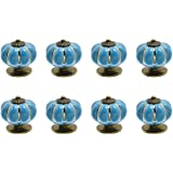 8 stks lade trekt koele pompoen ontwerp kast knoppen handgrepen hardware voor deuren laden blauw
