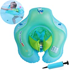 GLinUK Baby Aufblasbare Schwimmring - für Pool Beach Schwimmsitz Baby Badewanne Schwimmring Hilfe Frei Pumpe B1013 S 3-12 Monate 5-11kg