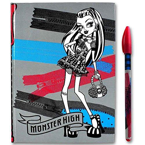 Agenda High Monster (Monster High Agenda Schreibset - Schulset - Tagebuch - Freundschaftsbuch - Farbe: grau)