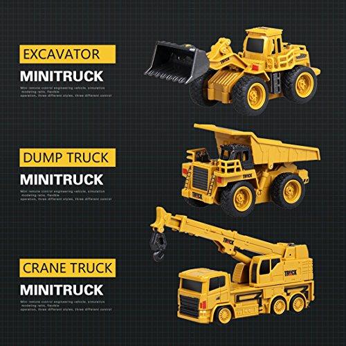RC Auto kaufen Baufahrzeug Bild 3: Mecotech RC Auto Mini Ferngesteuerte Autos 1:64 Skala RC LKW Gabelstapler Ferngesteuert Baufahrzeuge Spielzeug für Kinder ab 6 Jahren*