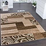 Paco Home Designerteppich für Wohnzimmer Inneneinrichtung Teppich Meliert Beige Braun, Grösse:60x100 cm