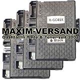 3 XXL Gel Druckerpatronen für Ricoh GC-41K Schwarz / Black kompatibel mit Aficio SG-2100N SG-3100 Series SG-3100SNW SG-3110DN SG-3110DNW SG-3110N SG-3110SFNW SG-3120BSF SG-3120BSFN SG-3120BSFNW SG-7100DN SG-K3100DN SET