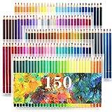 Laconile 150crayons aquarelle Couleurs vives Pré-affûtée Lot de crayons de couleur pour des livres de coloriage pour adulte Artiste Dessin croquis artisanales