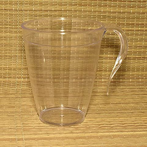 Plastique jetables Tasses à thé et à café/mugs avec poignée 226,8gram/227ml Bon pour fête X10Lot claire