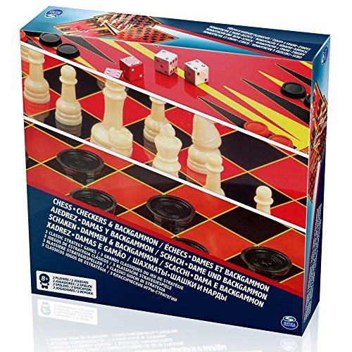 Spin Master SPINMASTER 6033211valor ajedrez/damas y backgammon Set