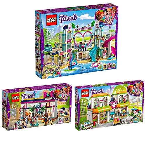 Lego Friends 3er Set 41344 41345 41347 Andreas Accessoire-Laden + Haustierzentrum + Heartlake City Resort