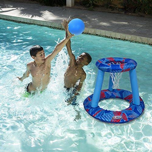 Swimways canestro da basket gonfiabile e pieghevole, 6038059