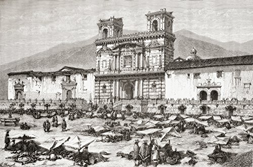 Ken Welsh/Design Pics - The Cathedral Plaza de la Independencia aka La Plaza Grande Quito Ecuador South America in The 19th Century. from Am Photo Print (86,36 x 55,88 cm)