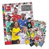 Fußball Bundesliga Saison 2018/19 - Starter Album + 50 Sticker gemischt (ohne Doppelte)
