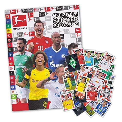 Fußball Album (Fußball Bundesliga Saison 2018/19 - Starter Album + 50 Sticker gemischt (ohne Doppelte))