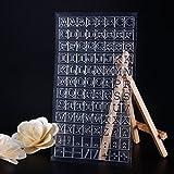 calistouk letras grandes señales patrón transparente sello de goma DIY álbum artesanía scrapbooking decoración