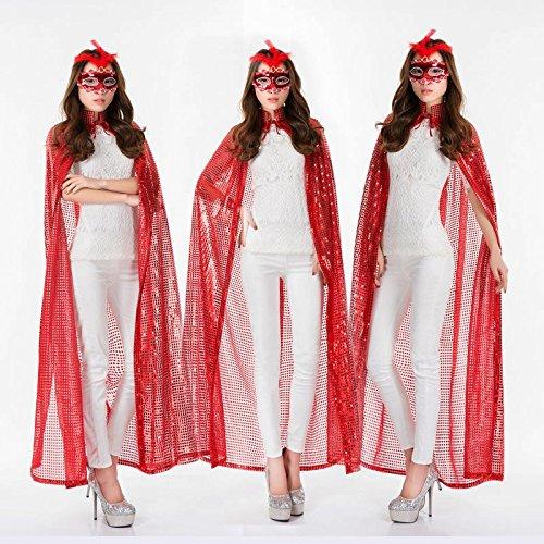 Halloween - party - festival - kostüm Mantel pailletten - umhang, erwachsene Frauen und Männer der göttin (Kostüm Todes Des Göttin)