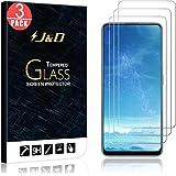 J&D Kompatibel för Realme 7 Pro Skärmskydd (3-Pack), Inte Fullständig Täckning, Härdat Glas HD Klart Ballistiskt Glas Skärmsk