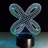 baby Q 3D LED Nachtlicht Lampe, Berühren Sie Schalter-Bunte Lichter, Acrylverfärbungs-Sicht-Stereolichter, USB angetriebene Lichter