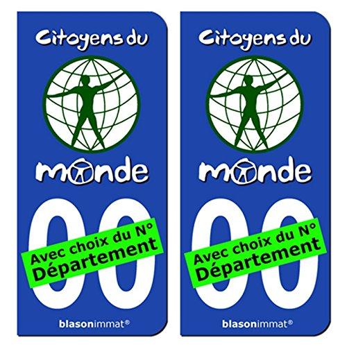2-autocollants-plaque-immatriculation-auto-citoyens-du-monde