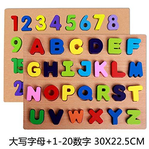 Numeri arabi, lettere, giocattoli puzzle prima infanzia educativi di formazione,C